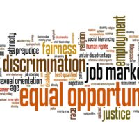 Employment law and equal opportunity word cloud concept