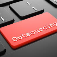 Outsourcing on Red Keyboard Button