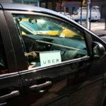 The Uber car