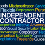 Sign that reads independent contractor