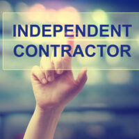 Independent Contractor sign