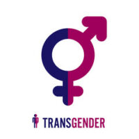 The gender sign that reads transgender
