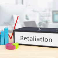 Retaliation – Finance/Economy. Folder on desk with label beside diagrams. Business/statistics. 3d rendering